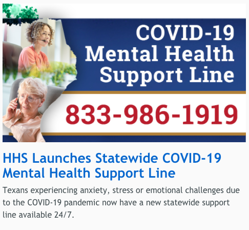 Covid 19 mental health support line