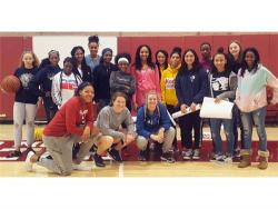 PJH Girls Basketball Team Visits University of Oklahoma
