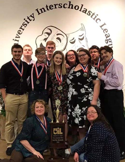 The Paris High School UIL one-act play has advanced to bi-district after capturing the first place advancing trophy. The students will compete on March 10 at Sulphur Springs High School.