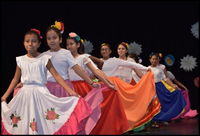 Crockett 5th and 6th grade students danced the Mariachi Vargas to Son de la Negra.