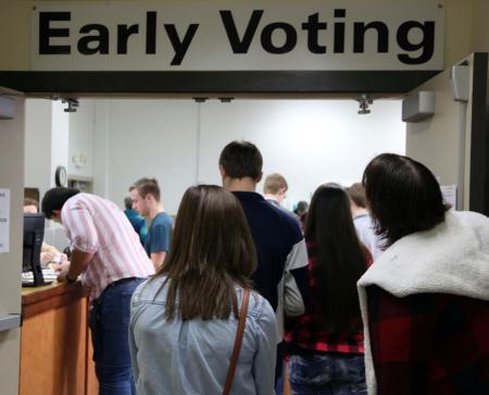 Paris High School seniors vote in their first primary election