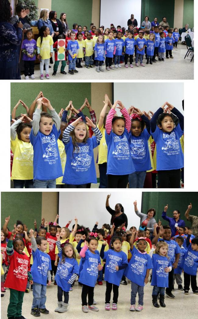 Lamar County Head Start students  perform for retired teachers