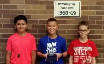 Crockett Intermediate School Boys Pre-Athletics  announces December winners