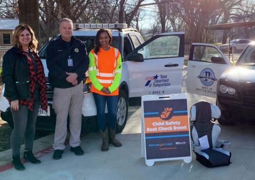 Child Car Safety Event at Givens was a huge success