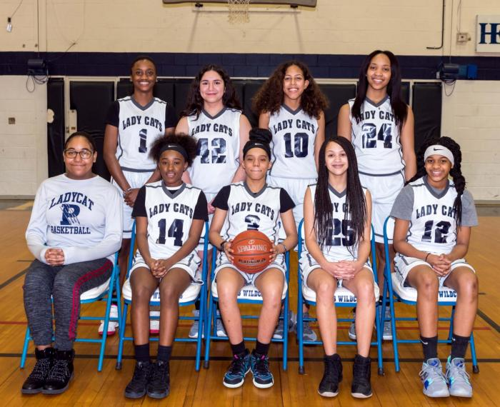 Paris Junior High Champions of 8th Grade Girls Basketball
