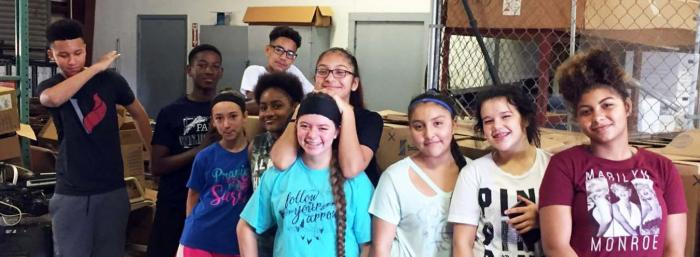 Paris Junior High Student Council members volunteered for younger students