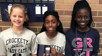 Ladycat Pride winners (left and right): Mazy Frierson, Jasmine Franklin  Athlete of the Month (center):  Shamyia Holt