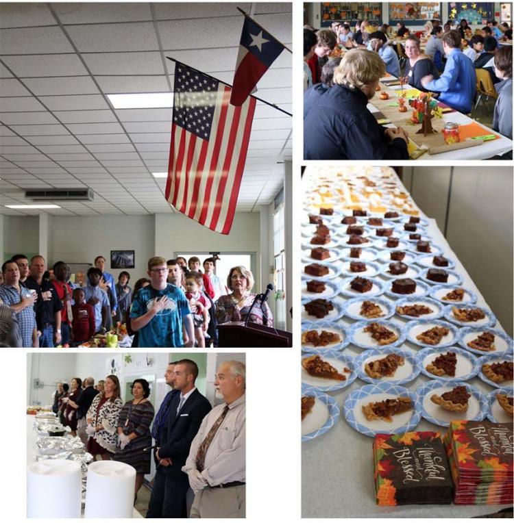 Travis High School of Choice hosts Thanksgiving Feast