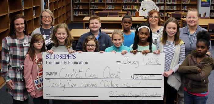 Crockett Intermediate School  receives grant for Care Closet