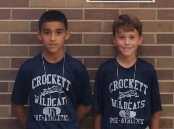 Isaiah Acevedo and Caleb Allen. 5th Period Wildcat Pride Winners