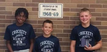Keilond Wright, Jack Brazeal 7th period Wildcat Pride winners and Trevin Hohenberger September Athlete of the Month.