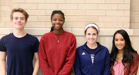 Paris High School juniors chosen to participate in RYLA camp are (from left) Jeremy Seals, Evelyn Brown, Ansley Downs, and Alyssa Tacuyan.
