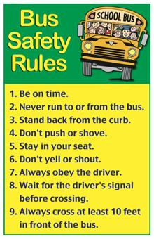 picture about Printable School Bus Rules identified as Paris ISD - Recommendations Rules