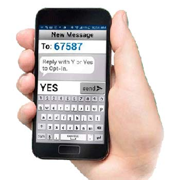 Opt-in for District & Campus Text Messages