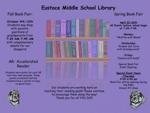 EMS Library Schedule