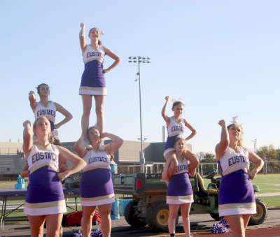 JV cheer at the second JVFB game.