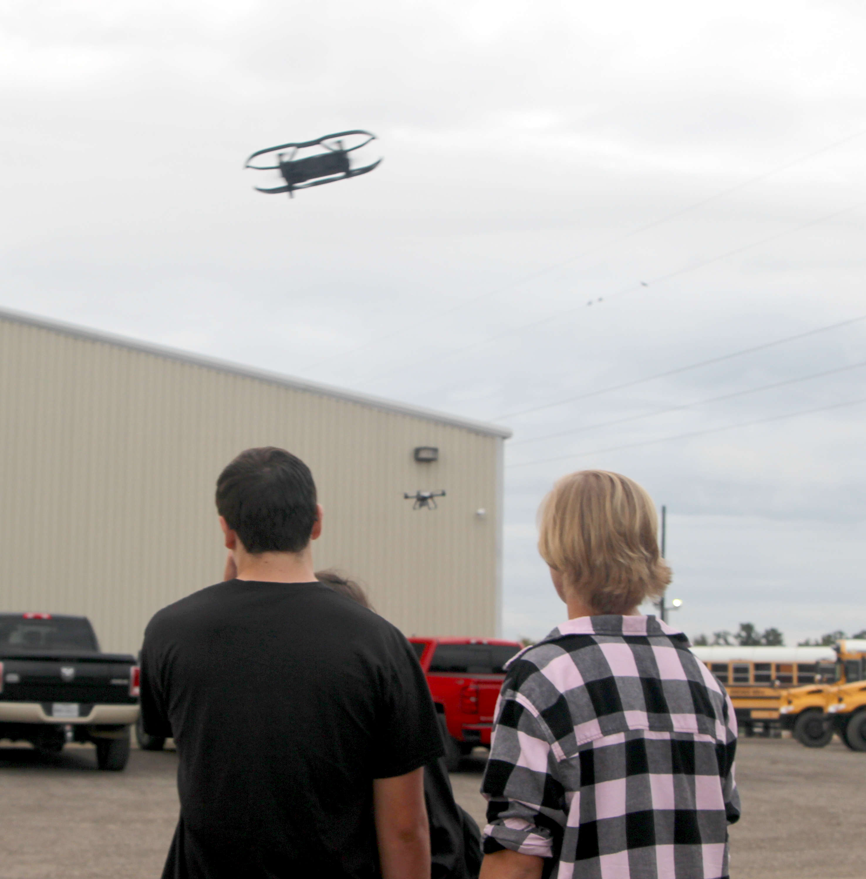 UAV class takes drones for first flight.