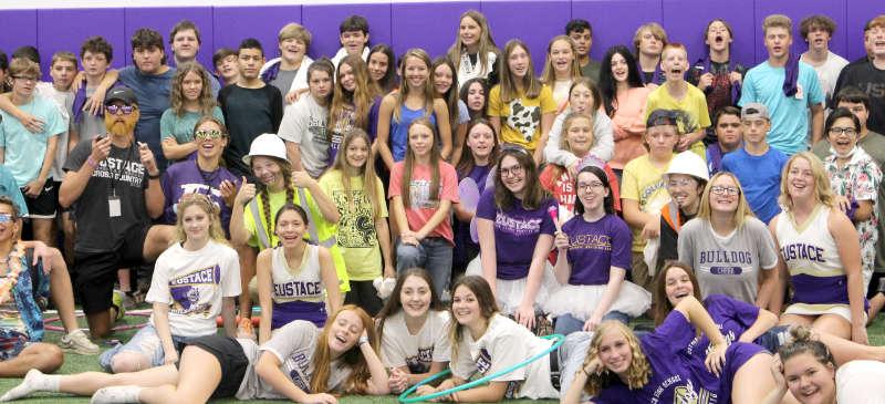 Fish Camp 2021: senior leaders and freshmen.