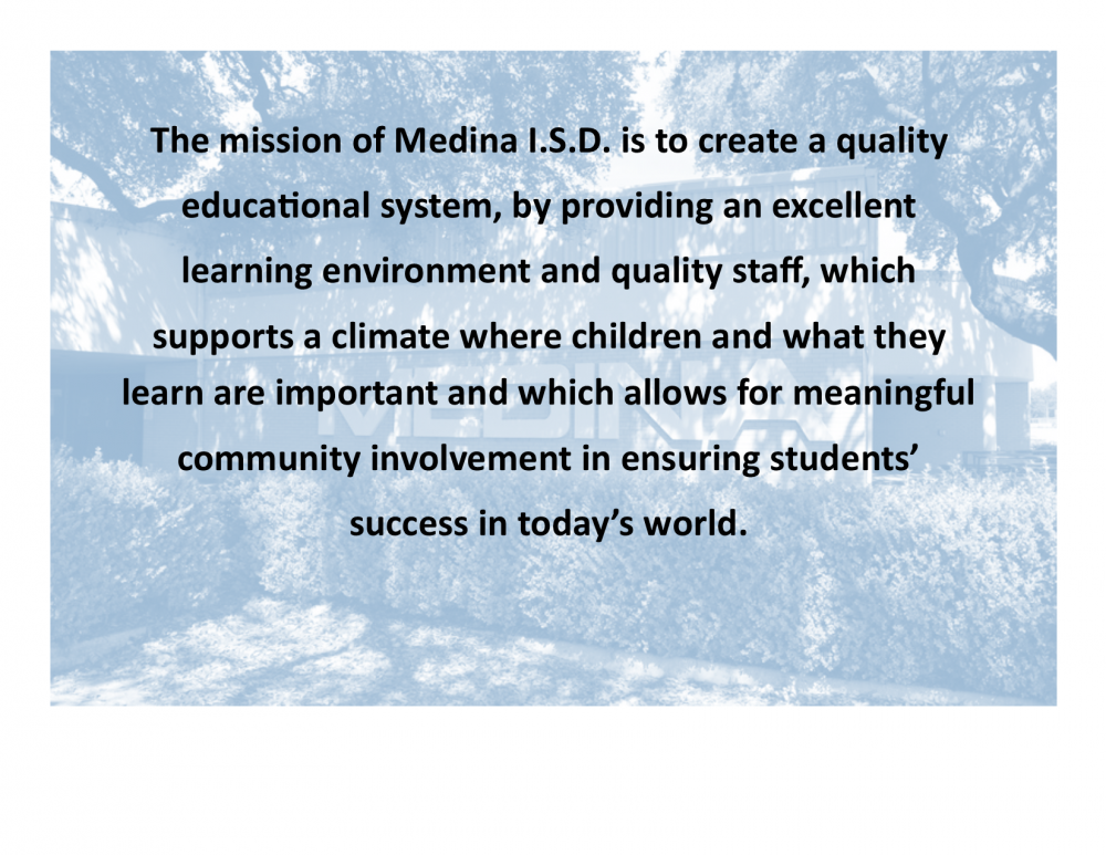 Medina ISD Mission & Vision Statement