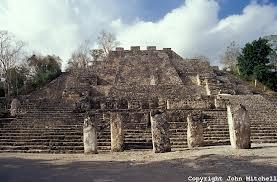 Calakmul-Stelae at base of Structure 2