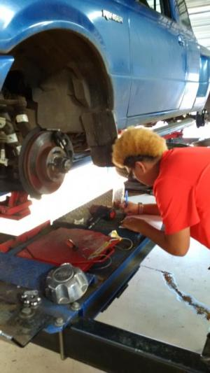 Ro performing precision measurements on brakes