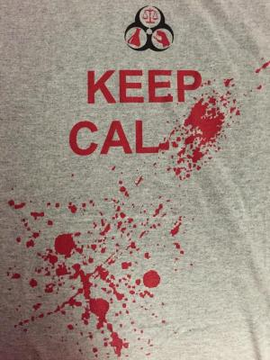 A little blood spatter-Society of Forensic Science T-shirt