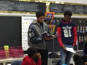 Education students read to students at Justiss