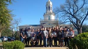 SkillsUSA Students touring Baylor in Waco, Tx
