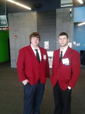 Chris and Mitch in official dress