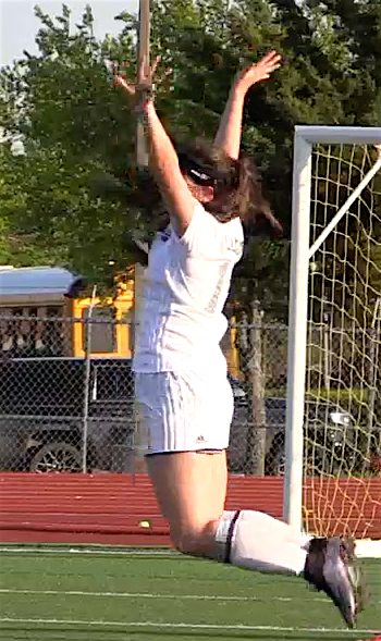 Deagan Dingman jumps for joy
