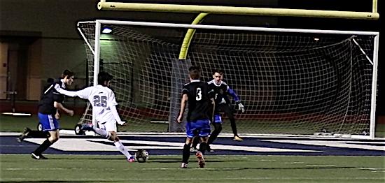 Jesus Rangel fires shot on goal