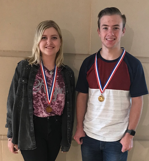 UIL medalists Meghan Lamberson and Reese Napier