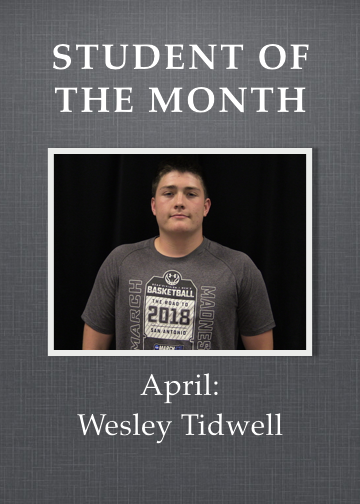 student of month for april