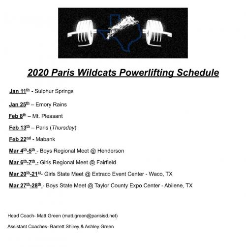 powerlifting schedule