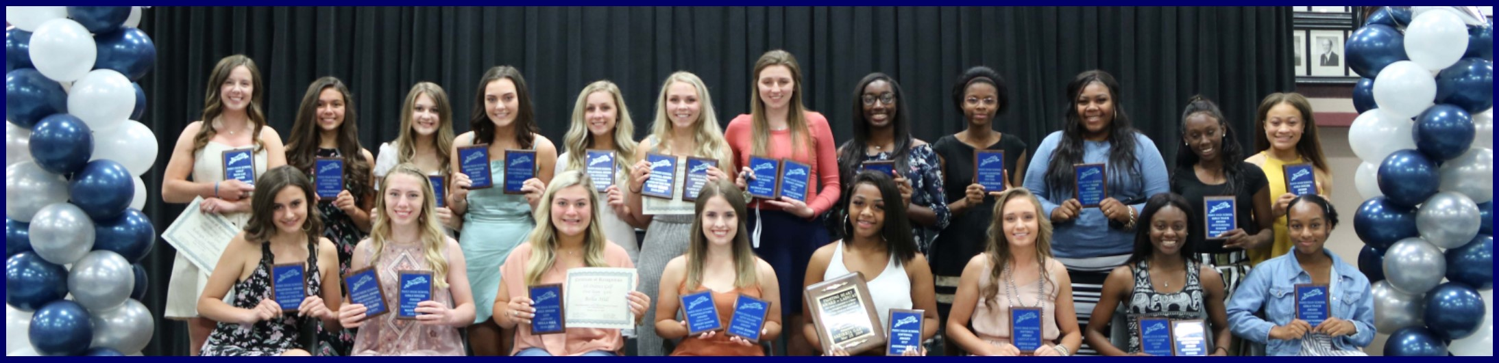 Paris High School student athletes honored - girls