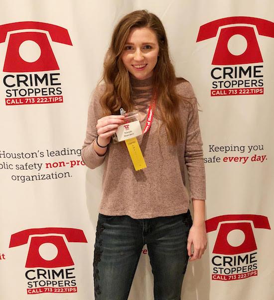 Texas Crime Stoppers Ambassador Nicole Hawkes