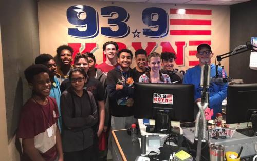 Students visit KOYN studio