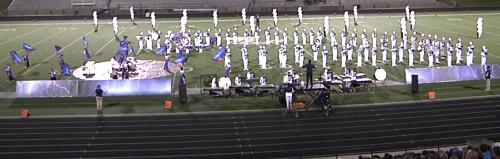 PHS Blue Blazes band on field at Area competition on October 27th, 2018.