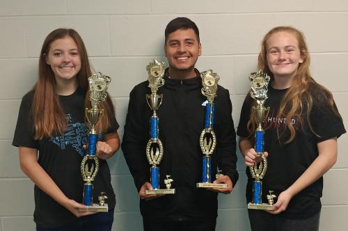 students display awards won at Sunnyvale invitational band contest