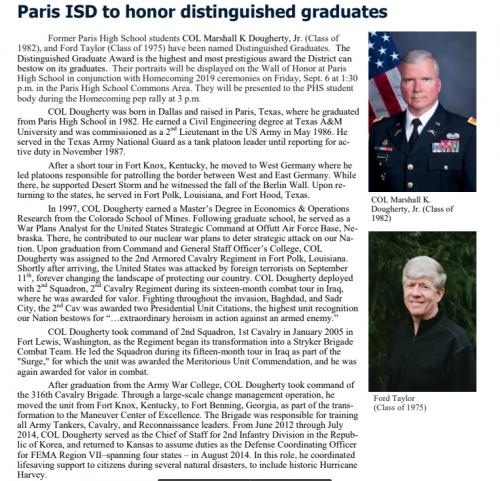 distinguished grads