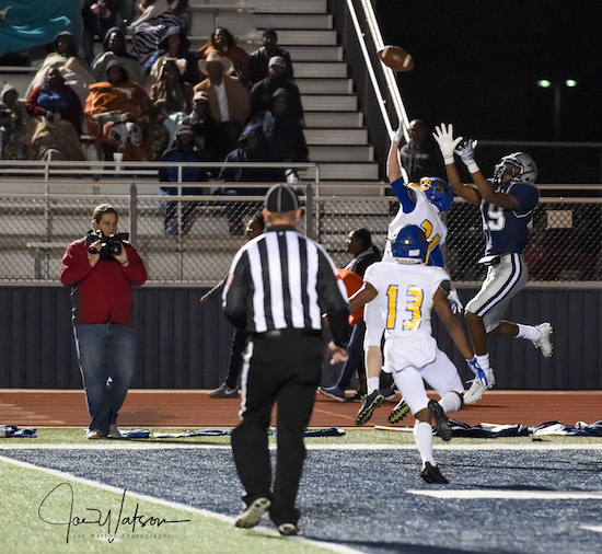 Trae Johnson goes up for third TD catch