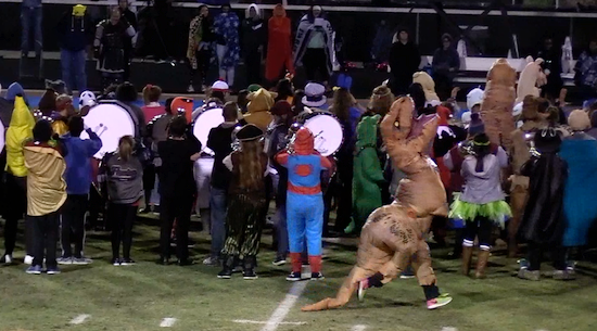 PHS Band plays Halloween halftime show