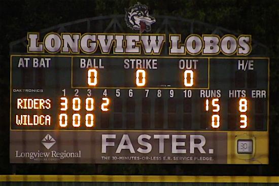 Longview Lobo scoreboard