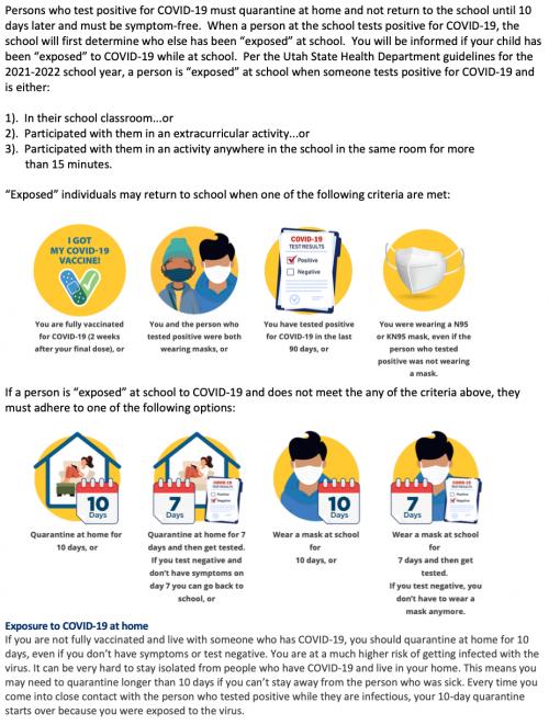 2021-22 Quarantine Guidelines