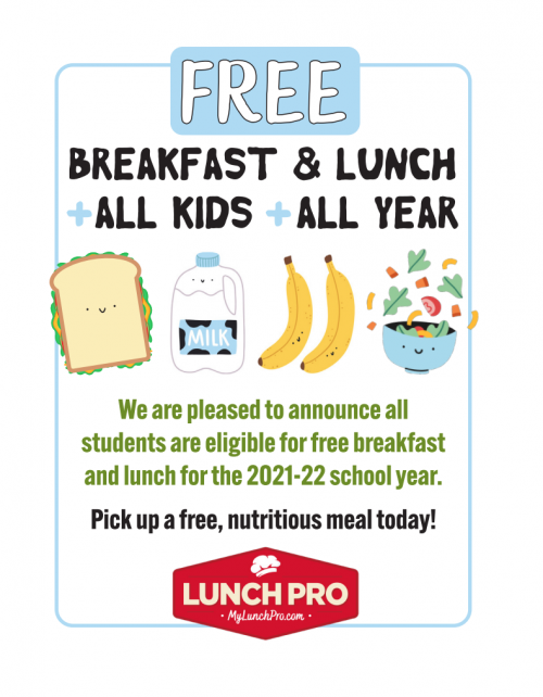 Free Breakfast and Lunch for Everyone