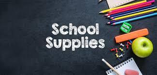 2021 - 2022 School Supplies List
