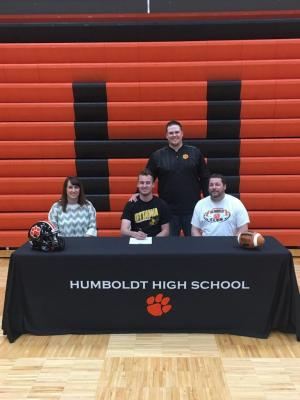 Caleb Klauman signing with Ottawa University
