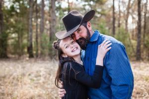 My husband Brice & step-daughter Raylee.
