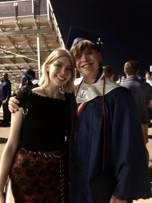 Mad and Robbie at his Grad.