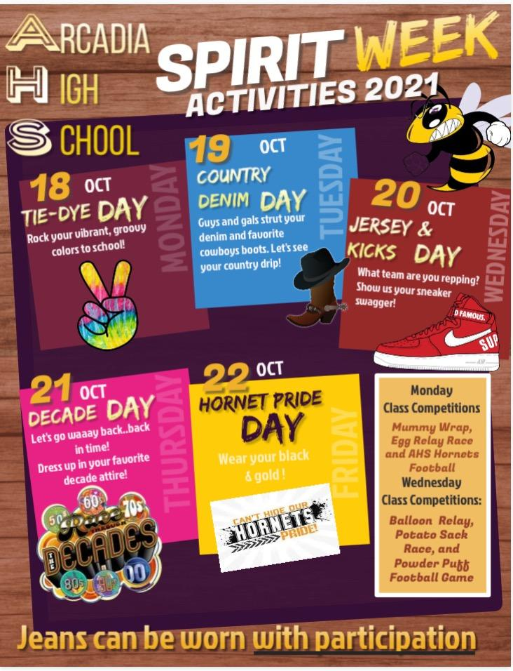 2021-22 Homecoming Spirit Week